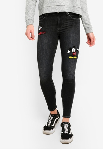 Levi's black Levi's X Mickey 721 Asia Skinny Jeans 75804AAABA897CGS_1