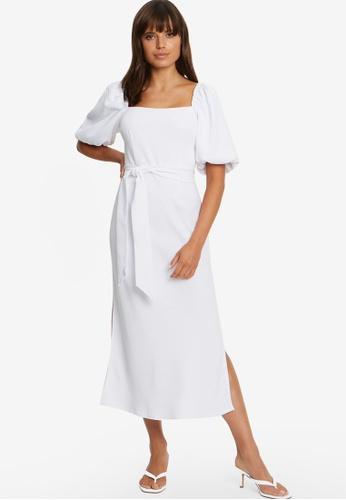 Tussah white Jordin Midi Dress 84734AAB85EC90GS_1