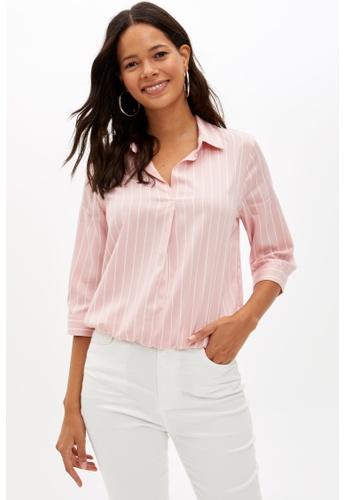 DeFacto pink Woman Long Sleeve Blouse 85CE4AADD8EC0BGS_1