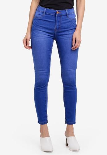 Dorothy Perkins blue Petite Bright Blue 'Frankie' Jeans C9047AA529D93EGS_1