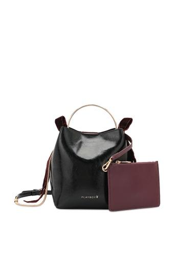 PLAYBOY BUNNY 黑色 Women's Hand Bag / Top Handle Bag / Shoulder Bag 2EA1CAC128D5A8GS_1