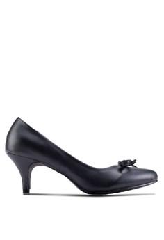【ZALORA】 撞色尖頭低跟細跟鞋