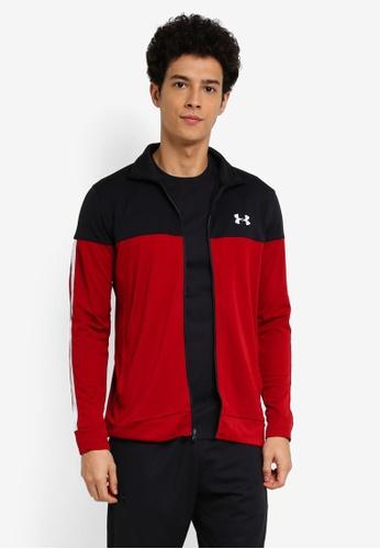 Under Armour red Sportstyle Pique Jacket UN337AA0SU7ZMY_1