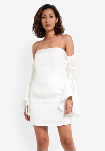 Bardot white Inez Drawcord Dress BA332AA0STA9MY_1