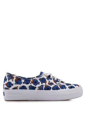Keds blue Champion Triple Little Miss Bossy Print Sneakers KE942SH0STFCMY_1