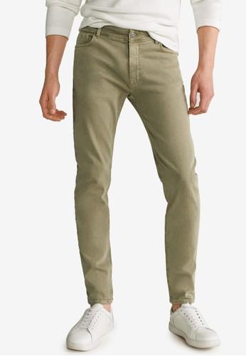 MANGO Man green Skinny Colour Billy Jeans DF5E0AAE21C219GS_1