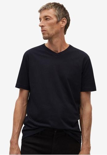 Mango Man black Organic Cotton T-Shirt B6C92AAFF691D8GS_1