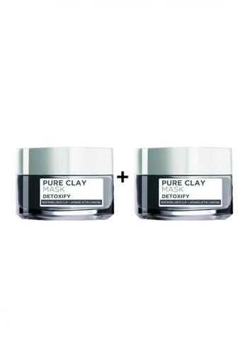 L'Oréal Paris grey L'Oréal Paris Detoxify Pure Clay Mask 50ml [Bundle of 2] FB6E5BE581339FGS_1