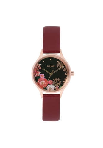 Oui & Me red OUI&ME Minette BURGUNDY Leather Ladies Watches ME010173 73D5FACF8DDA5BGS_1
