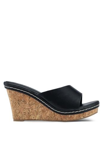Mimosa black Casual Wedge Sandals 50EAASH6222BCCGS_1
