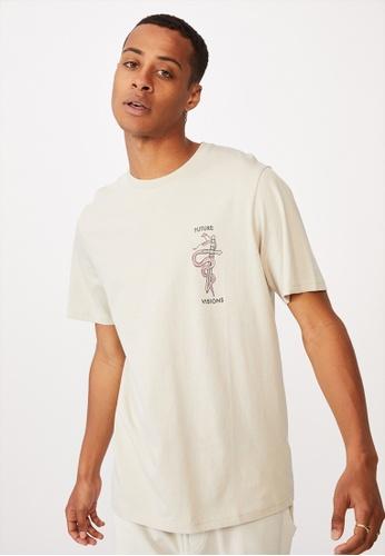 Cotton On grey Tbar Art T-Shirt 4673EAA11A5DFAGS_1
