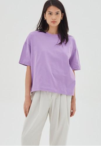 shopatvelvet purple Lilac T-shirt A6C28AA265C310GS_1