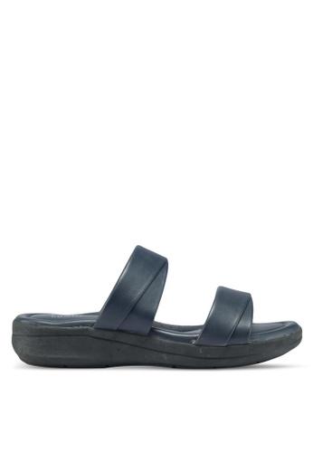 Bata blue Double Strap Slip On Sandals 55AB7SH0CF6769GS_1