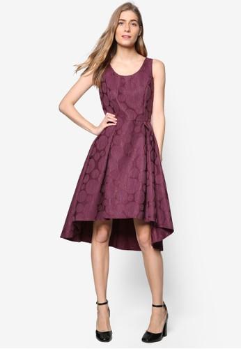 *Luxeesprit台灣官網: 波紋不對稱裙擺連身裙, 服飾, 洋裝
