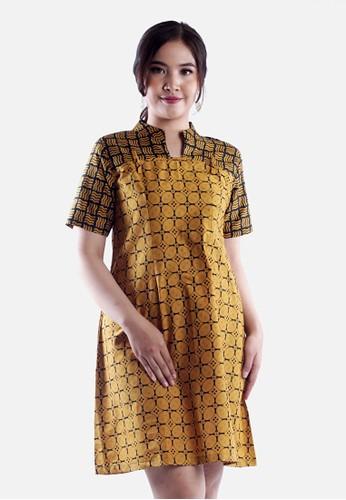 AlmiRangga black and yellow Maida Dress 35BB0AAF364D78GS_1