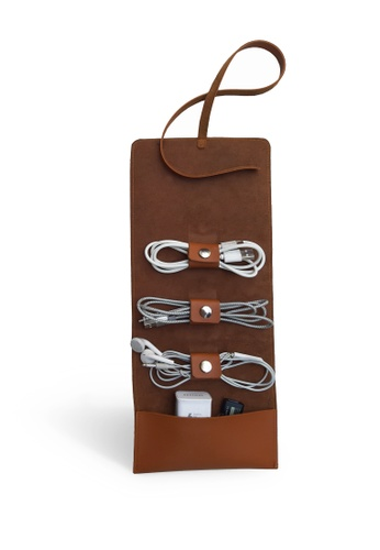 Louiebelle Collection brown Cable and Cord Organizer 1042FACAD087E0GS_1