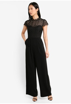 6f74a7d1698 Forever New black Elloise Lace Bodice Jumpsuit F2DA8AADD7100AGS 1