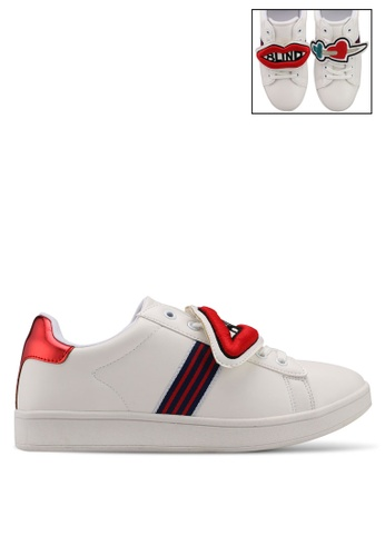 Nose white Ace Sneakers With Removable Patches CDB10SHD58B2B7GS_1