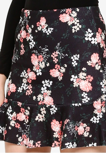 NEW LADIES Dorothy Perkins BLACK PINK TROPICAL FLORAL PENCIL SKIRT Size 6-22