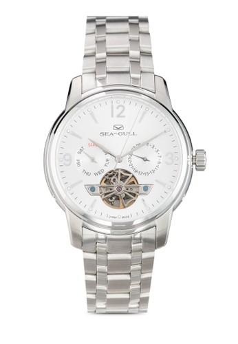 Seagull 816.424(ST2502 機械機芯) 41mm 不銹鋼鏤空圓錶, 錶類, zalora 心得飾品配件