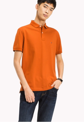 Tommy Hilfiger orange TOMMY REGULAR POLO 75BD8AA5D0AD78GS_1