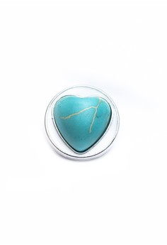 Heart Turquoise Cabochon Snap