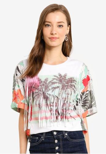 Desigual white Honolulu T-Shirt B0266AA0FE272BGS_1