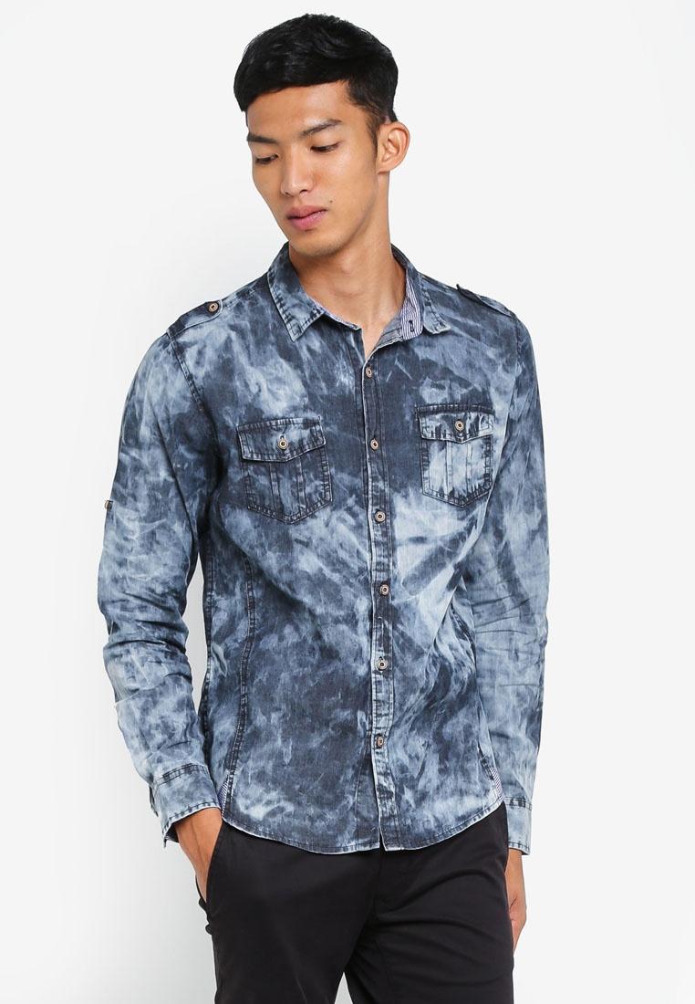 Fidelio Acid Grey Denim Wash Shirt HqftXRw