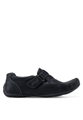 Louis Cuppers black Strap Moccasins DAA81SHA2A7C28GS_1