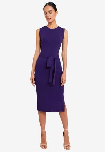 FORCAST purple Jimena Tie Knit Dress 4388AAA8FE514AGS_1