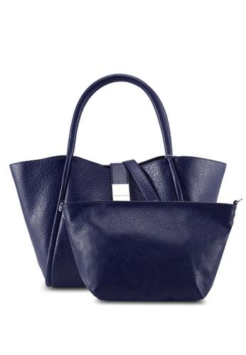 Perllini&Mel navy Faux Leather Double Handle 6767DAC007BACEGS_1