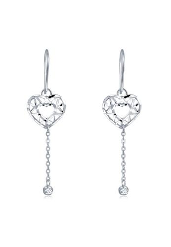MaBelle silver 14K/585 White Color Gold Gold Heart Earrings 4D9C1AC7E2D5A9GS_1