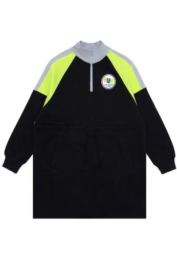 Mini cream black Logo quarter-zip sweater dress 3FCDAAA8575DF2GS_1