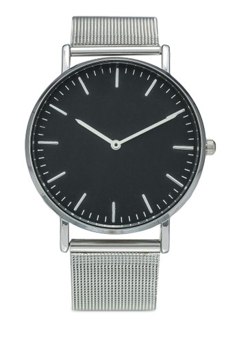 NUVEAU silver Round Face Gold Black/Mesh Strap Watch B8C7AACF936988GS_1