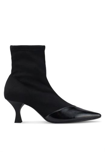 Mango 黑色 Heel Sock Boots 30981SHB9A9634GS_1