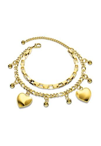 Bullion Gold gold BULLION GOLD Signature Love in Gold Layered Steel Jewellery 35DBAACFED62FAGS_1