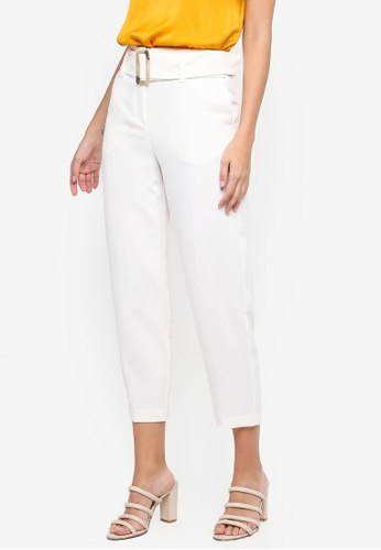 a5f48726dbd Buy TOPSHOP Jodi Belted Peg Leg Trousers Online on ZALORA Singapore