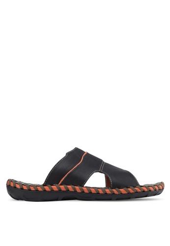 Sammoni black Comfy Sandals SA969SH01SLAMY_1