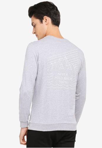 JAXON grey Never Hold Back Sweatshirt D3397AAE32F8C1GS_1