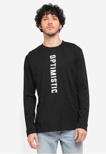 MANGO Man black Message Cotton T-Shirt MA449AA0T1EYMY_1
