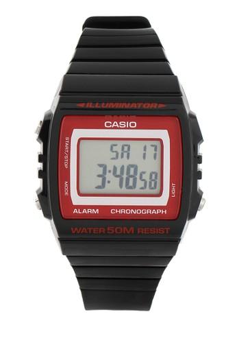 Casio black Casio Jam Tangan Pria - Black Red - Silicon - W-215H-1A2VDF CA347AC23SJWID_1
