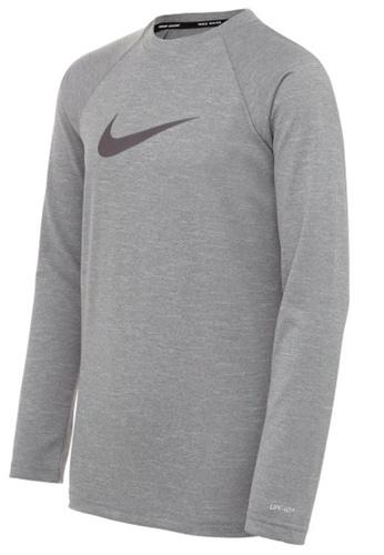 Nike grey Nike Swim Boy's Heather Long Sleeve Hydroguard A2D55AAB6EB5F1GS_1