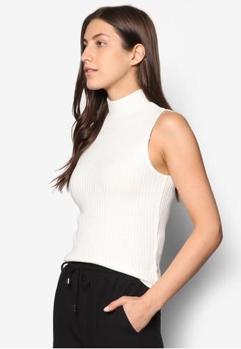 Collection 羅紋高領無袖T-shirt、 服飾、 上衣ZALORACollection羅紋高領無袖上衣最新折價
