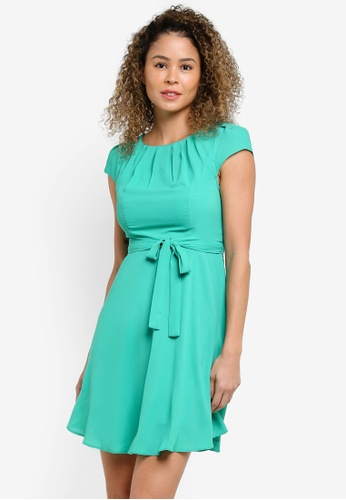 Dorothy Perkins green Petite Green Chiffon Dress DO816AA20XJBMY_1