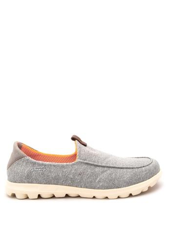 Jump grey Elliot Slip On Sneakers JU701SH31SAUPH_1