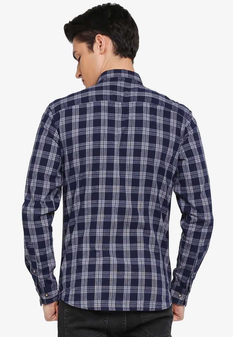 Selected Homme Blue Dark Mix Two Shirt Madox qFxn1PCt