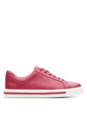Clarks CLARKS Un Maui Lace Raspberry Leather Women's Sport Shoes 87EF7SH628DDE9GS_1