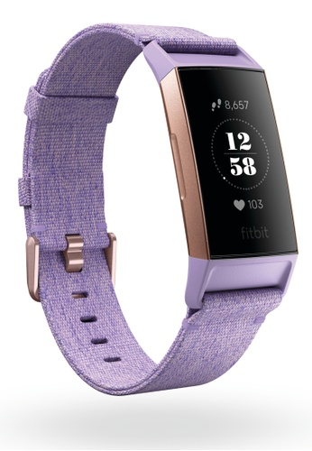 Buy Fitbit Fitbit Charge 3 Special Edition - Lavender Woven Online on ZALORA  Singapore 5a2b686fa7
