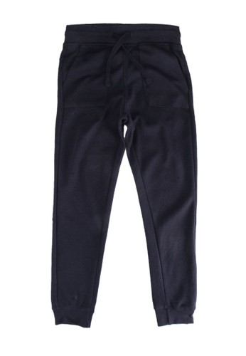 MANGO KIDS blue and navy Cotton Jogger-Style Trousers 2B022KA7D47258GS_1