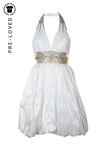 Tony Bowls white Pre-Loved tony bowls White and sequins Gown Dress A87D1AA4F604A5GS_1